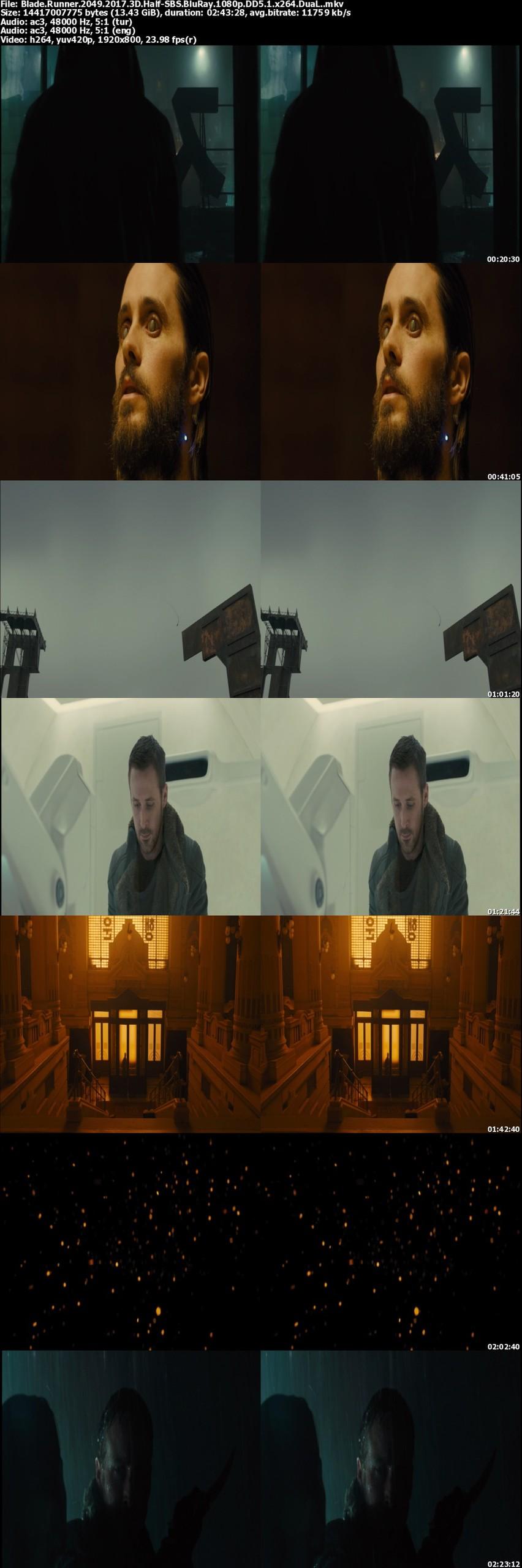 Blade Runner 2049: Bıçak Sırtı -2017 - 3D Half-SBS - 1080p - DuaL ( TR-EN)