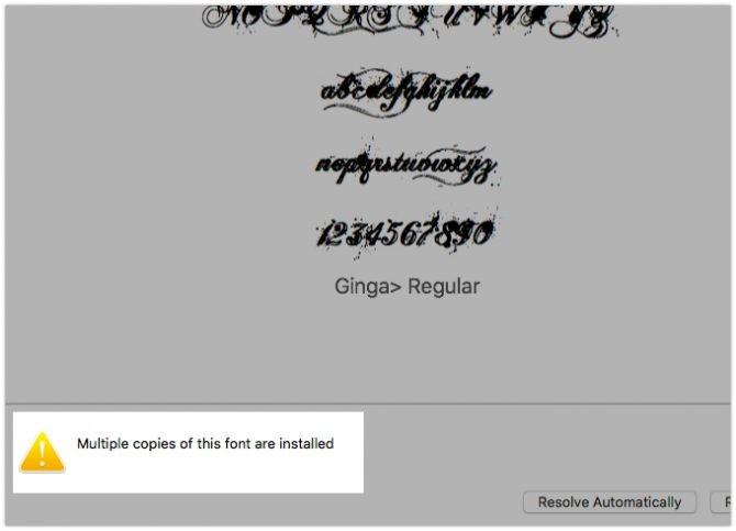 mac yinelenen yazı tipini kaldır