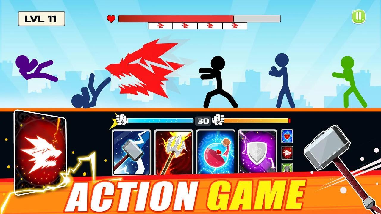 Stickman Fighter: Mega Brawl Apk İndir