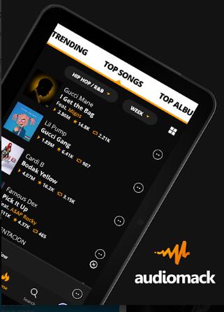 Q2Jooj Audiomack Cebe Müzik MP3 İndirme Uygulaması Yükle