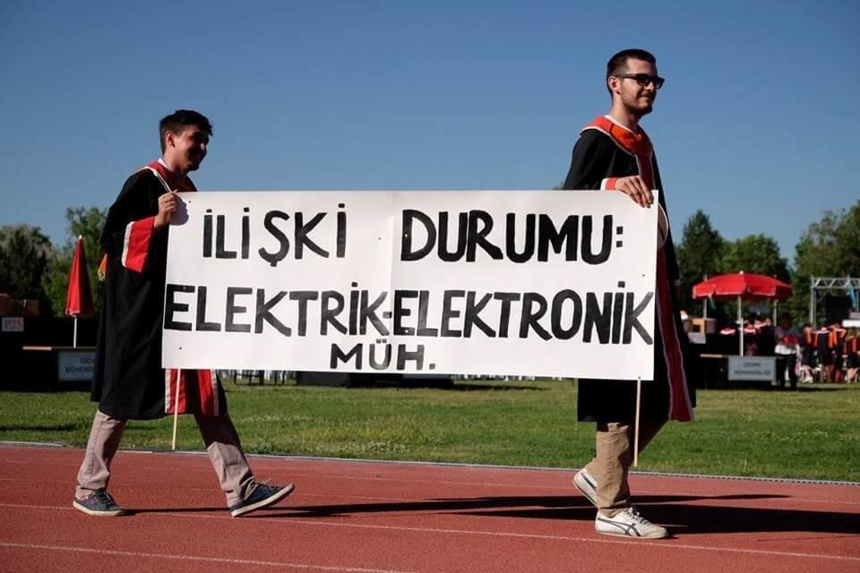 İlişki durumu: Elektrik-Elektronik Mühendisliği pankartı