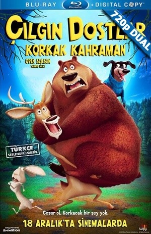 Çılgın Dostlar 4 : Korkak Kahraman - Open Season: Scared Silly | 2015 | BluRay 720p x264 | DUAL TR-EN
