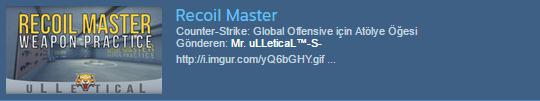 Recoial Master Haritası ile aim geliştirmek