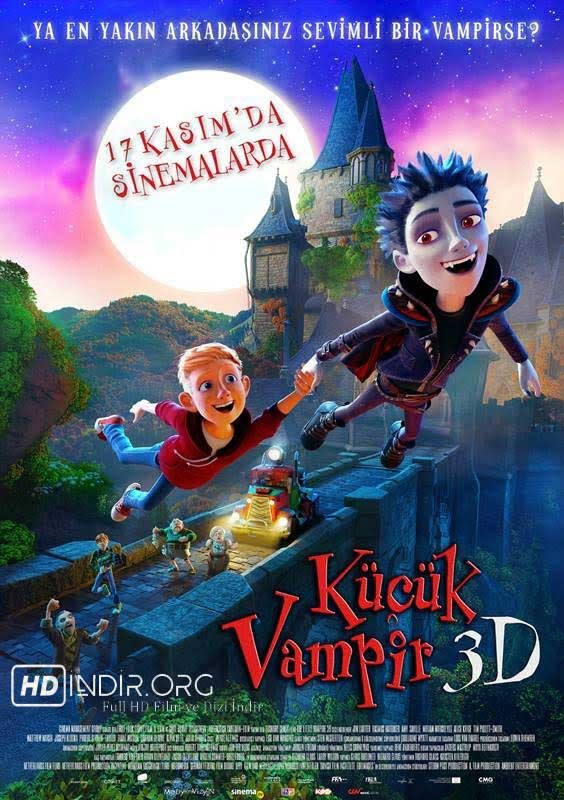 Küçük Vampir - The Little Vampire (2017) Türkçe Dublaj m1080p Full HD indir