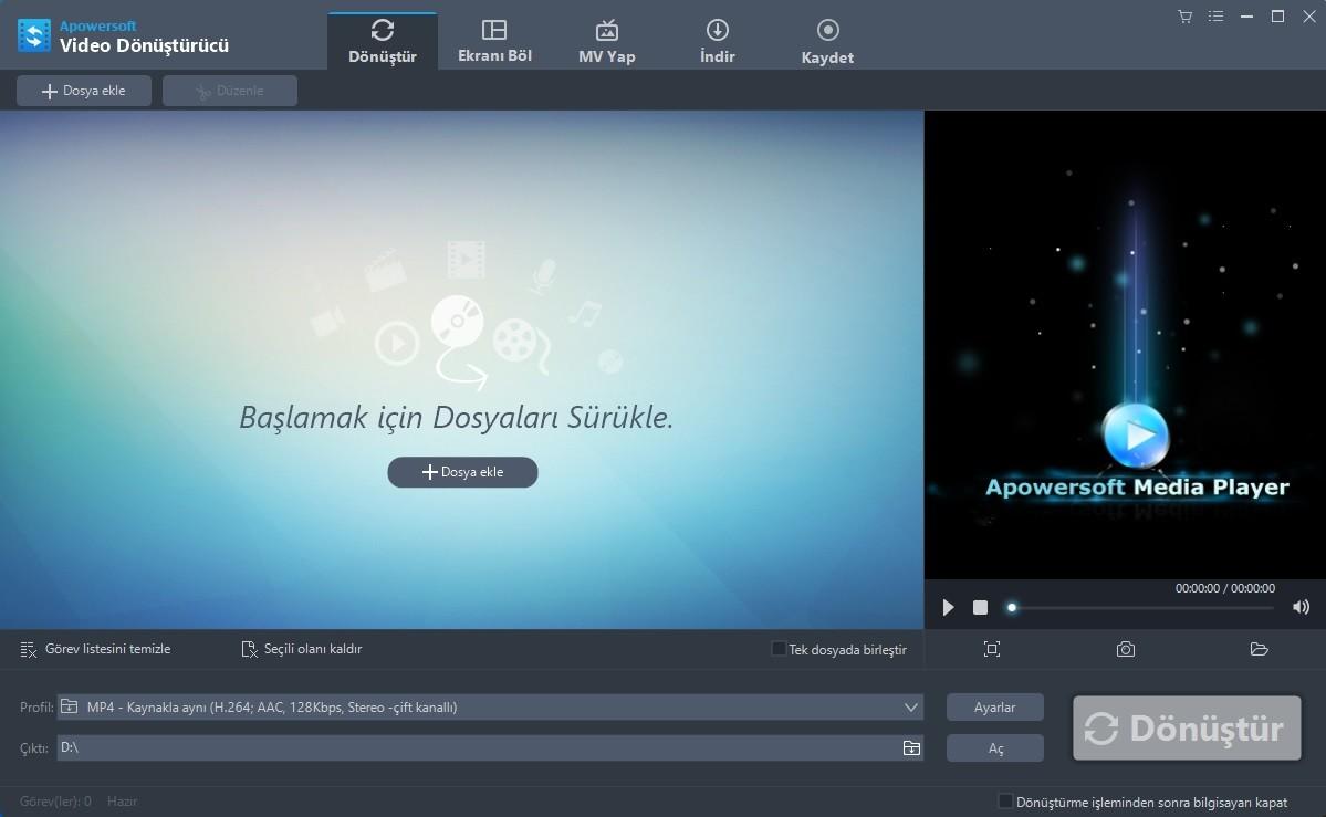 Apowersoft Video Converter Studio 4.7.7 Türkçe   Katılımsız
