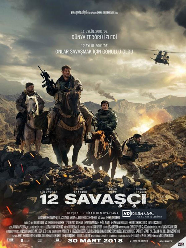 12 Savaşçı - 12 Strong indir (2018) Türkçe Altyazı m720p Tek link