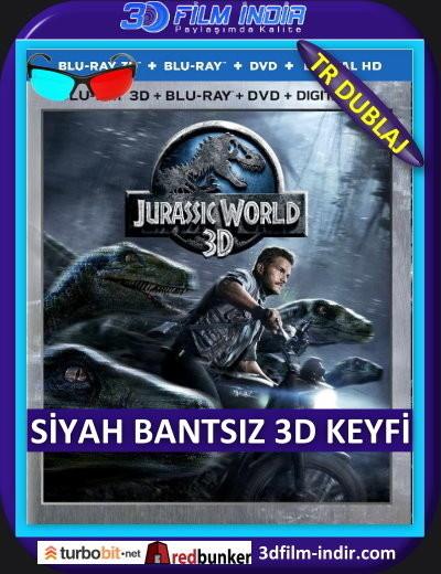 Jurassic World 3D 2015 ( ANAMORPHIC Siyah Bantsız BluRay m1080p 3d) Türkçe Dublajlı 3 boyutlu film indir