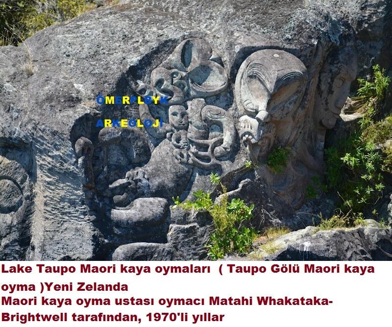 Lake Taupo Maori kaya oymaları
