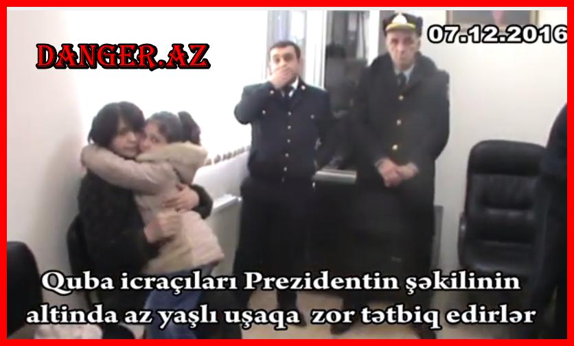 10 yaşlı Nuraya qarşı məhkəmə icraçıları tərəfindən zorakılıq.