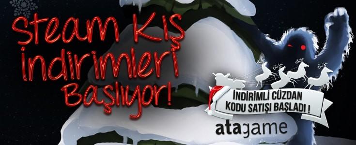 Steam Kış İndirimleri Başlıyor ! İndirimli Steam Cüzdan Kodu Ata Game'de !