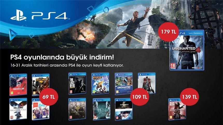 PS4 Oyunlarinda Yilsonu Indirimi