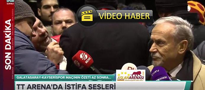 Galatasaraylı yöneticiye canlı yayında şok tepki!