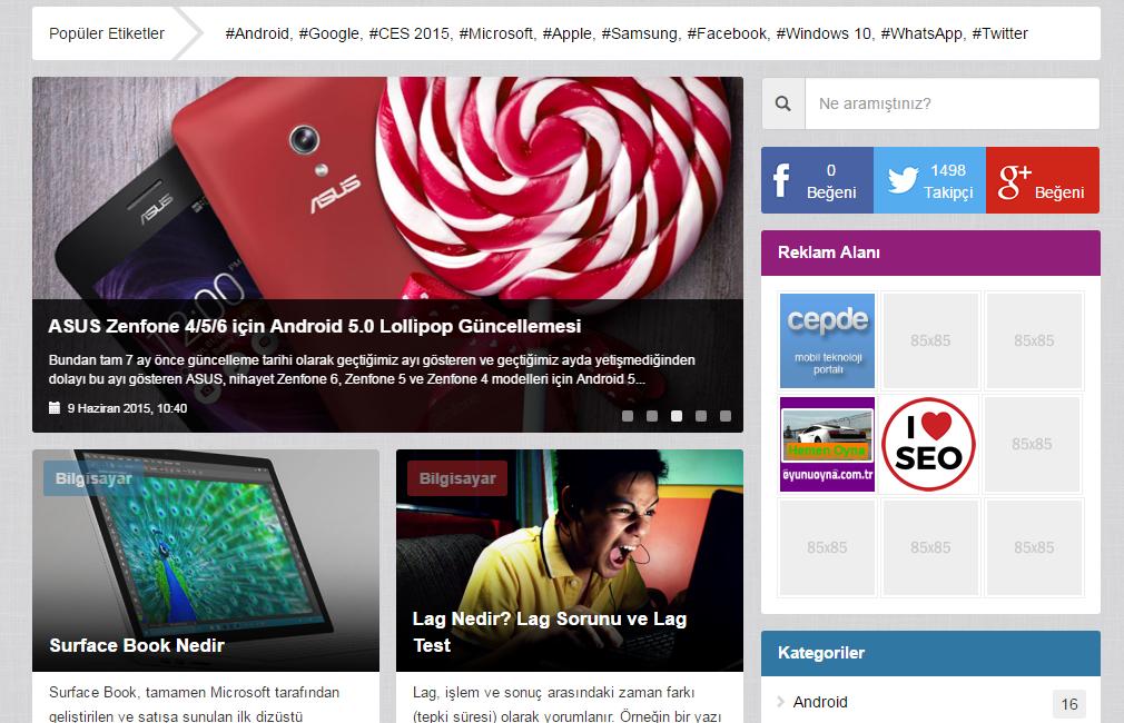 WordPress Teknomusti Teknoloji Teması Mobil Uyumlu Ücretsiz