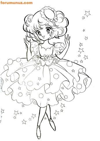 Seker Kiz Candy Boyama Sayfalari Seker Kiz Candy Boyama Kitaplari