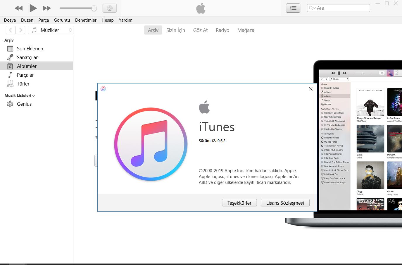 iTunes 12.10.8.5 | Katılımsız