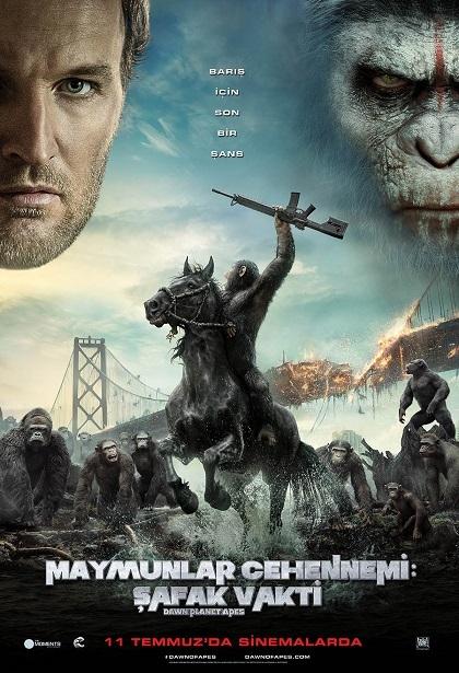 Maymunlar Cehennemi: Şafak Vakti - Dawn of the Planet of the Apes 2014 ( BDRip 576p ) DuaL TR-ENG Tek Link İndir