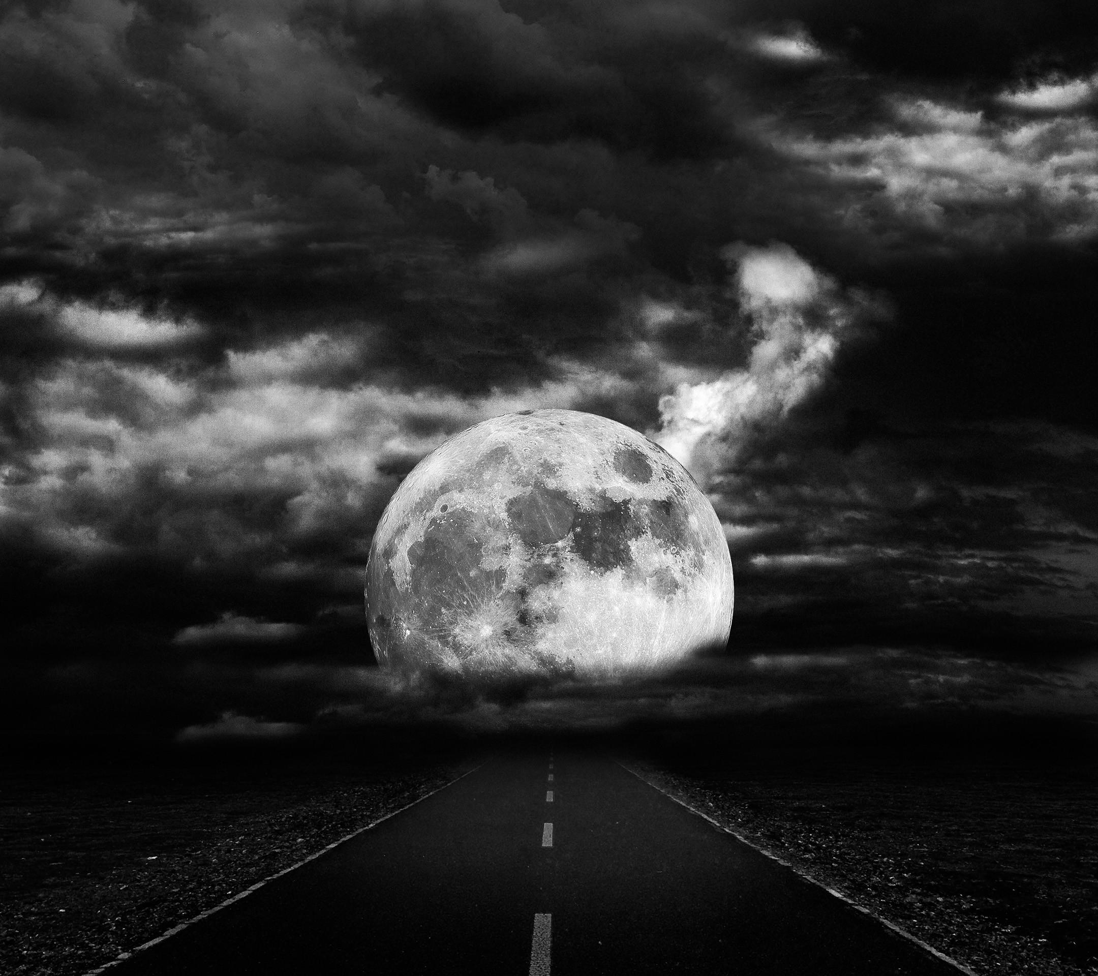 Gece Ay Wallpaper