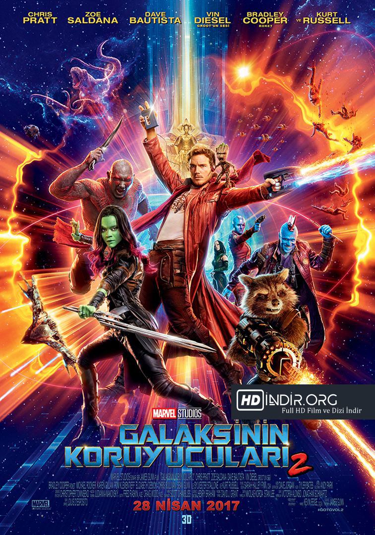 Galaksinin Koruyucuları 2 (2017) Türkçe Dublaj HD İndir