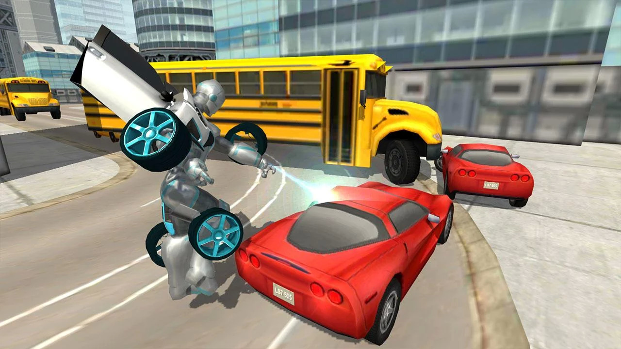 Flying Car Robot Flight Drive Simulator Game 2017 Apk