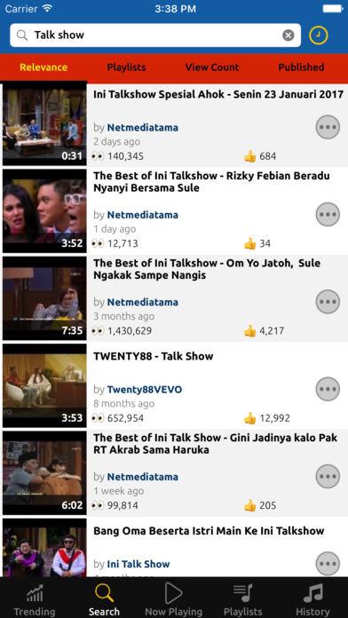 Tubify Trending Video Music Player
