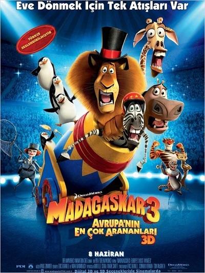 Madagaskar 3: Avrupa'nın En Çok Arananları 2012   M1080p BRRip x264 Türkçe Dublaj - Tek Link