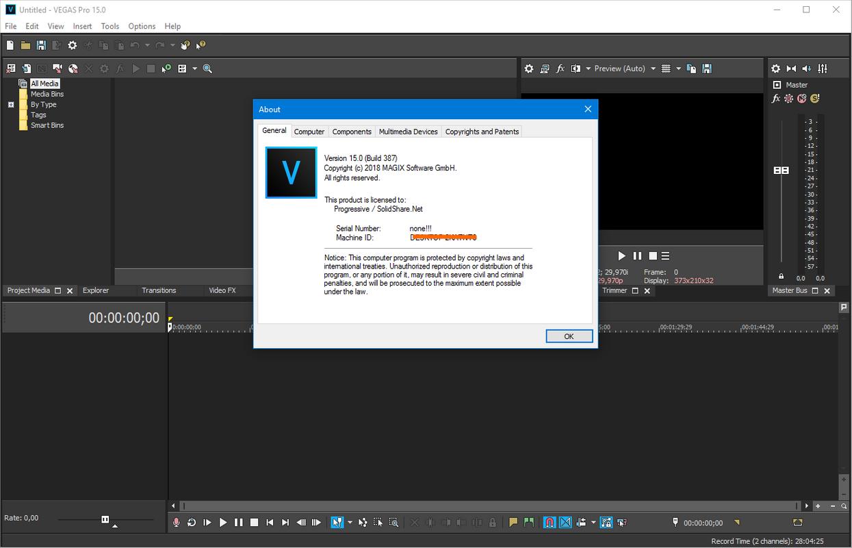 MAGIX VEGAS Pro 16.0 Build 248 (x64) | Katılımsız