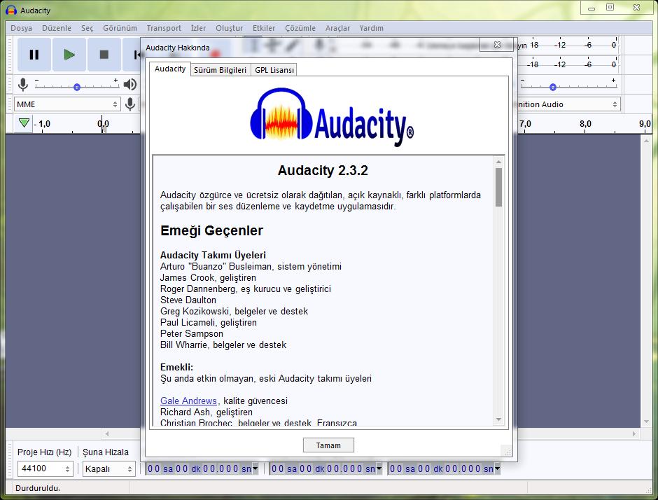 Audacity 2.4.1 Final | Katılımsız