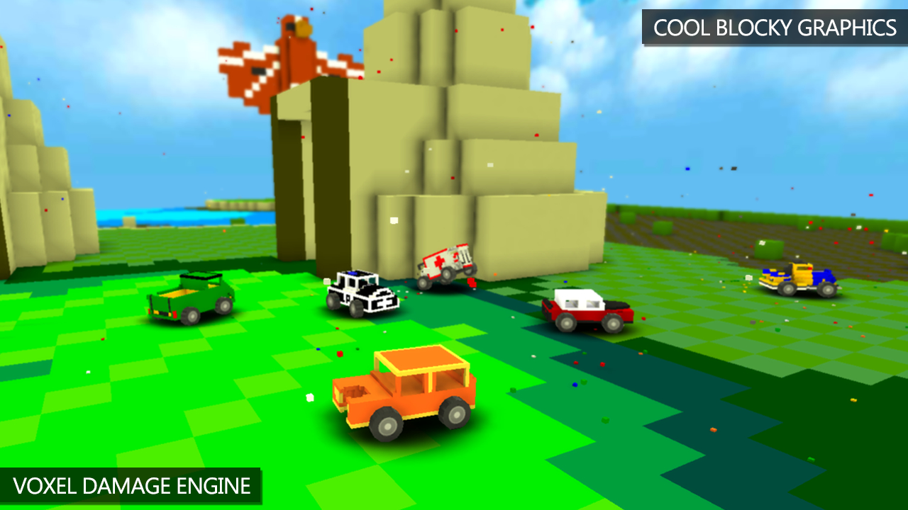 Blocky Demolition Derby Apk