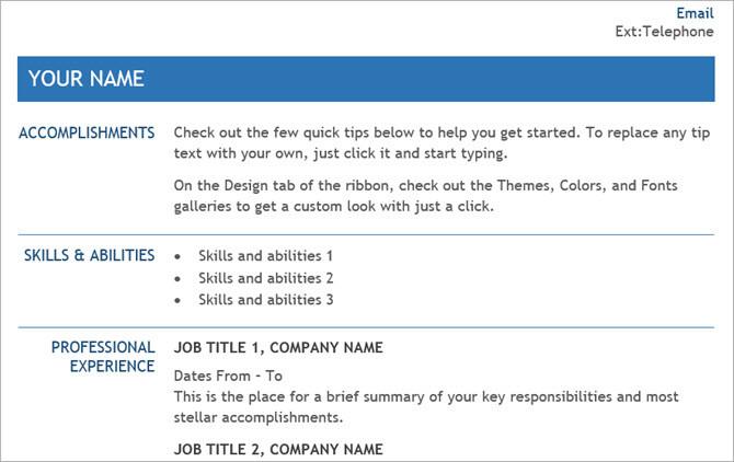 Şirket içi Transfer için CV