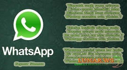 Whatsapp cıxartan evin yıxılsın..!