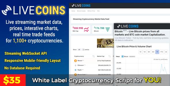 LiveCoins v2.2.3 - Gerçek zamanlı Coins Fiyatları Scripti