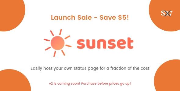 Ücretsiz Sunset Sayfa Durumu Scripti
