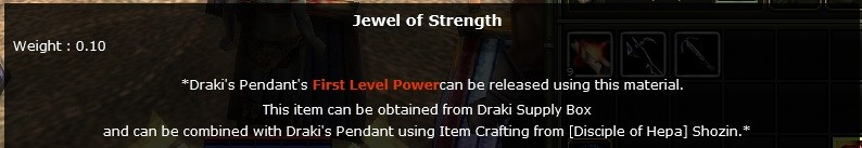 JEWEL OF STRENGTH DRAKİ İTEM