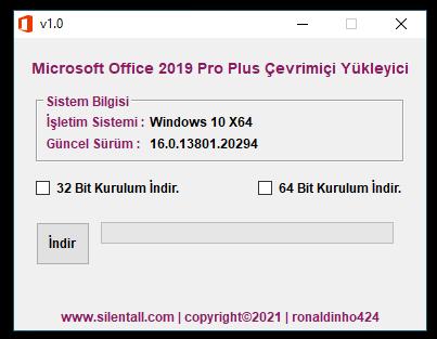 Microsoft Office 2019 Pro Plus Çevrimiçi Yükleyici v1.0 cover