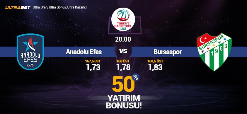 Anadolu Efes-Bursaspor Canlı Maç İzle
