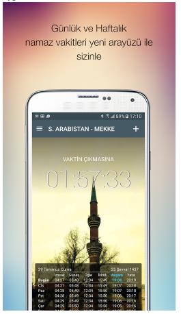 V0jl3V Ezan Vakti Android Uygulamasını Tek Link İndir