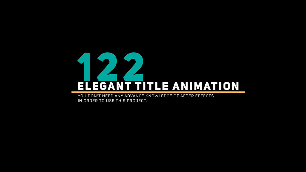 122 Title Bundle After Effects Projects