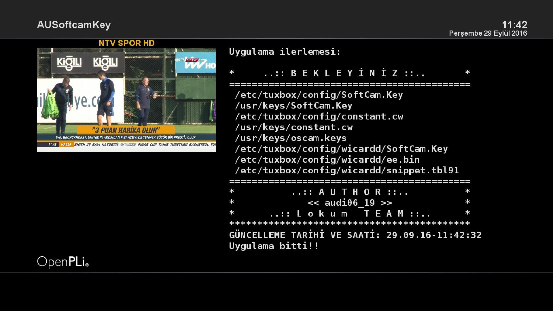 AUSoftCam Key plugins (oscam,wicard,powervu,tandberg,biss)