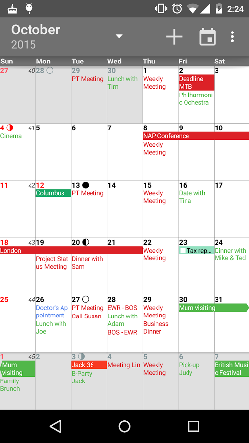 aCalendar+ Calendar & Tasks Mod APK