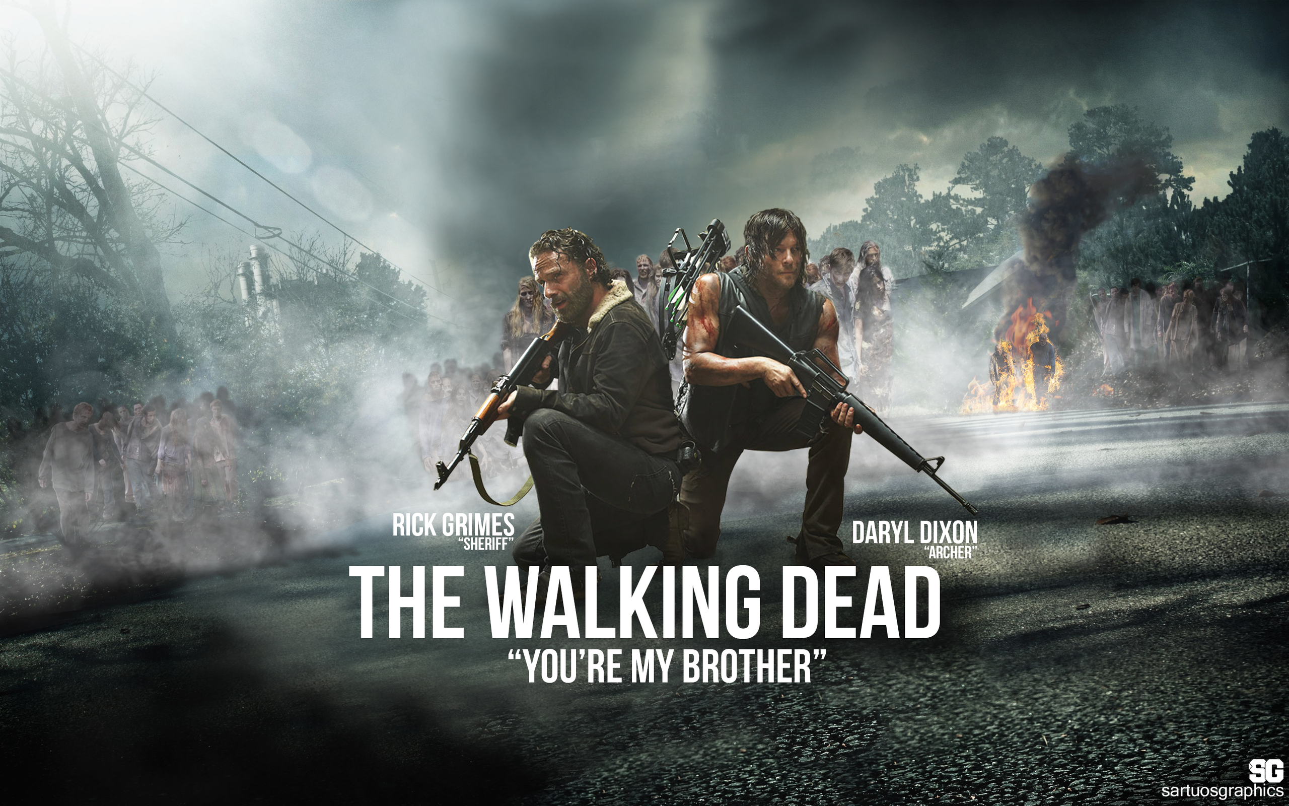 THE WALKING DEAD WALLPAPER(sartuosgraphics)2015