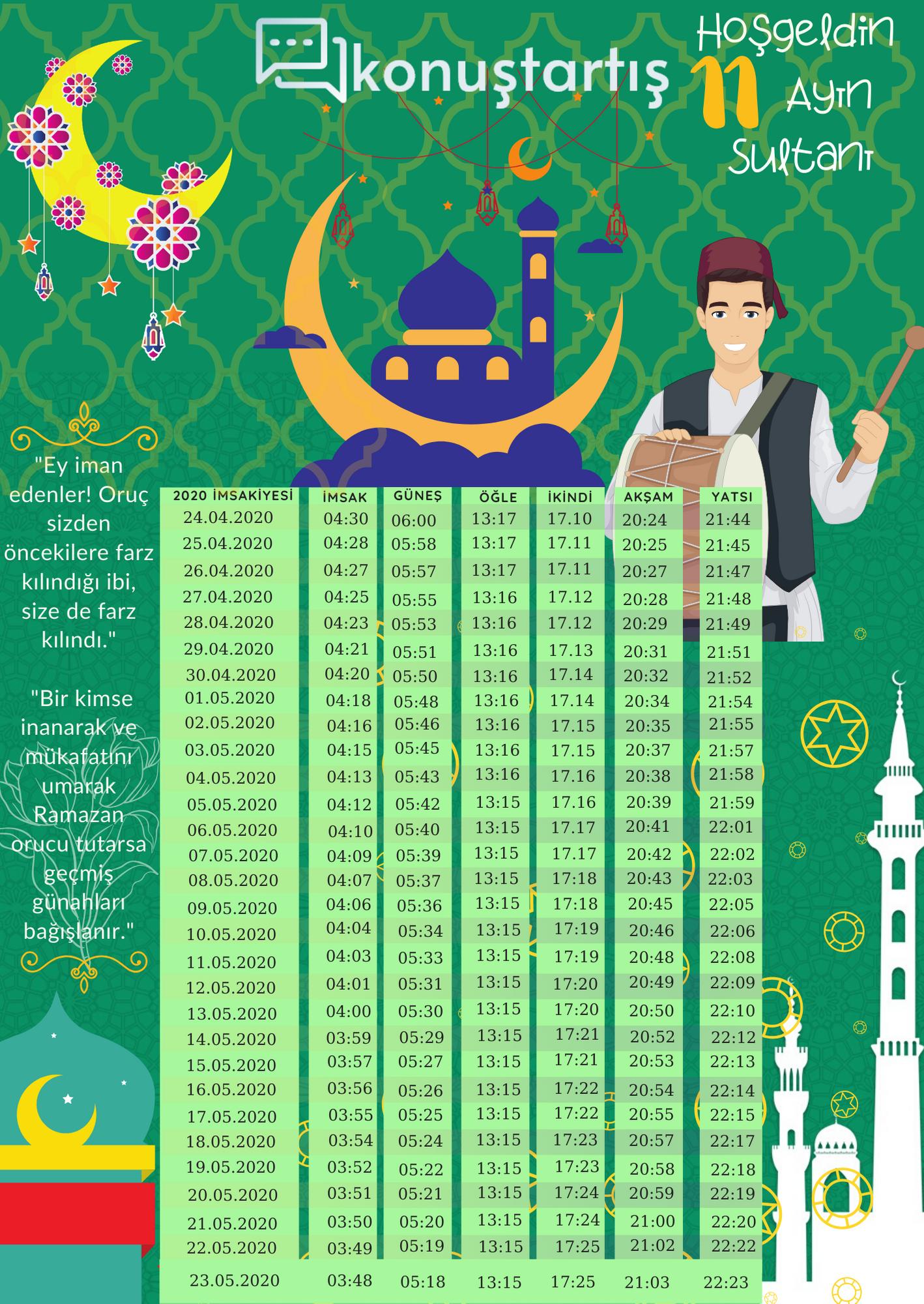 Ramazan İmsakiyesi