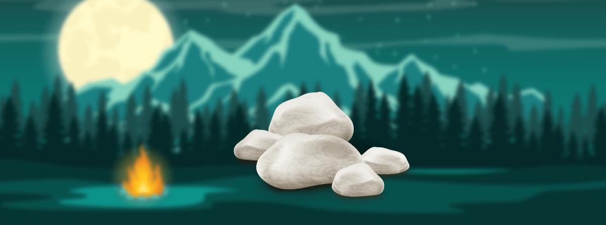 taş ile çadır ısıtma