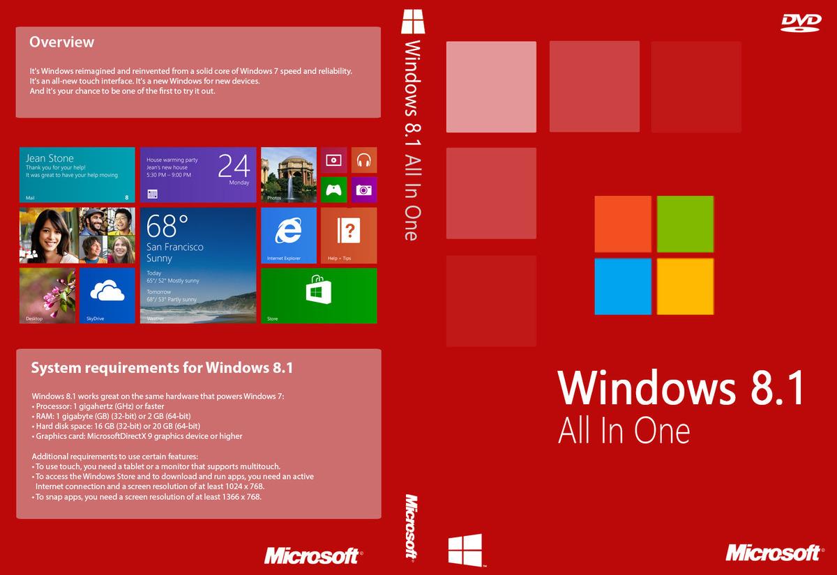 Windows 8.1 Aio 6 in 1 Update 1 MSDN (Tüm Sürümler) TR Tek DVD   | Yandex disk