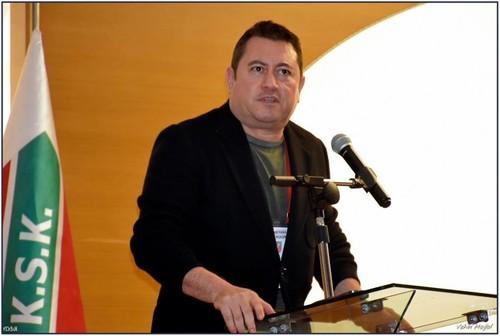 Son dönemde şirketleşme sürecine öncülük eden, Mesut Sancak'la görüşmeleri yürüten camianın etkili isimlerinden Nazım Torbaoğlu, gelişmelerle ilgili kongrede bilgi verdi.