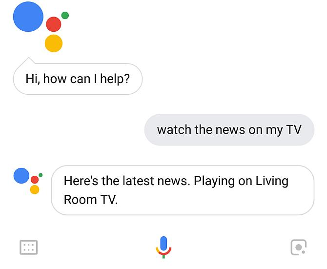 OK Google, play the news on my TV.