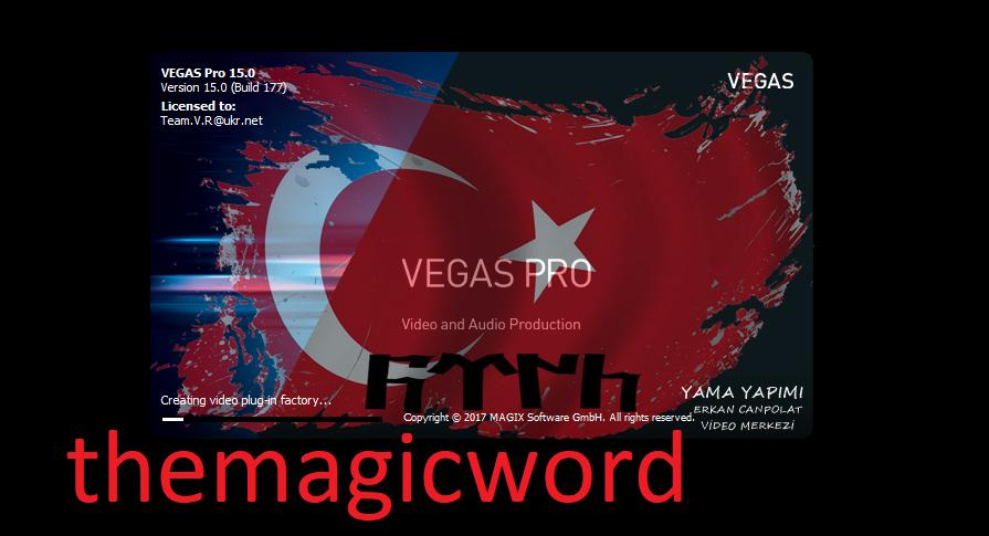 Sony Vegas Pro 15: Türkçe Yama Kurulumu | themagicword