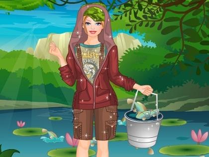 Balıkçı Barbie Oyunu