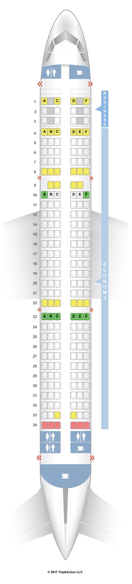 Goklerdeyiz Havacilik Sitesi Ucaklarda Koltuk Plani Aegean Airlines A321