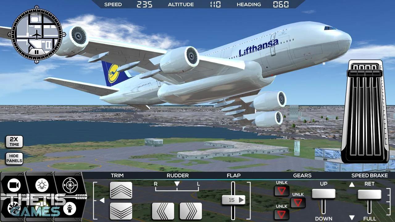 Flight Simulator 2017 FlyWings HD Android Oyun