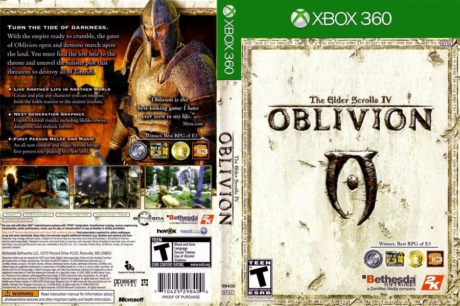 The Elder Scrolls IV: Oblivion Xbox 360 [Title Update 3